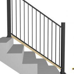 Aluminum Stair Railing Installation